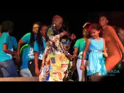 Angelique Kidjo performing Mama Africa