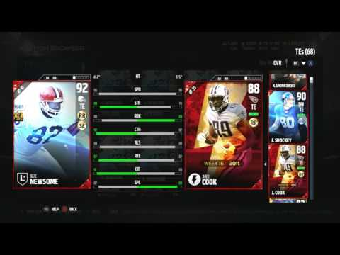 Madden 17 Ultimate Team-Legends Willie Brown / Ozzie Newsome Attributes Revealed-Madden 17 MUT