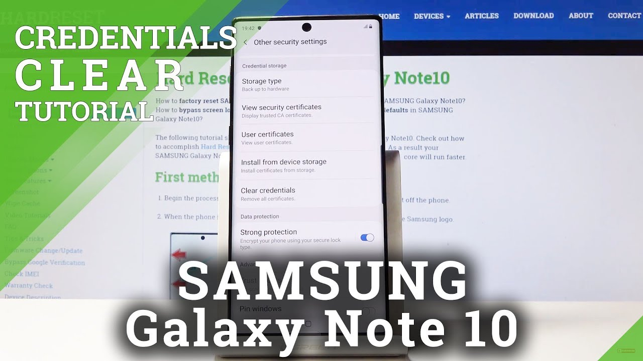 How to Clear Credentials in SAMSUNG Galaxy Note 10 - Delete