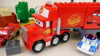 Lego Block Cars truck and Robocar Poli car toys play