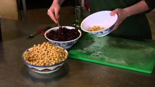 Garbanzo & Kidney Bean Salad