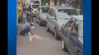 'Lagrimón', vendedor que finge accidentes y llora para ganar plata, se burla de incautos que caen