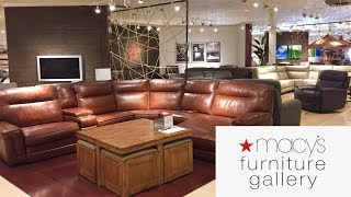MACY'S FURNITURE GALLERY SOFAS COUCHES ARMCHAIRS HOME DECOR SHOP WITH ME SHOPPING STORE WALK THROUGH