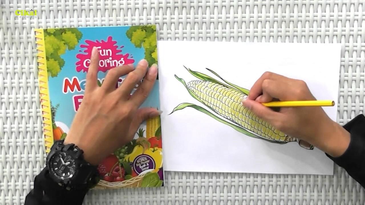 Cara Mewarnai Buah dan Sayur dengan Pensil Warna Bonus Buku Fun Coloring