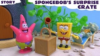 funny prank spongebob squarepants story play doh surprise crate episode nickelodeon toy unboxing