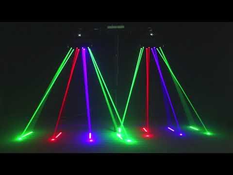 150W RGB LED Spider Laser Beam Moving Head Stage Lights DMX Disco DJ Party Ligh