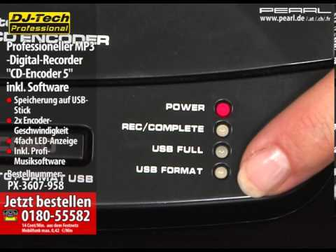 """Professioneller MP3-Digital-Recorder """"CD-Encoder 5"""" inkl. Software"""