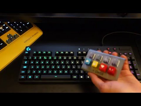 Logitech G810 Orion Spectrum RGB Mechanical Keyboard Review - By TotallydubbedHD