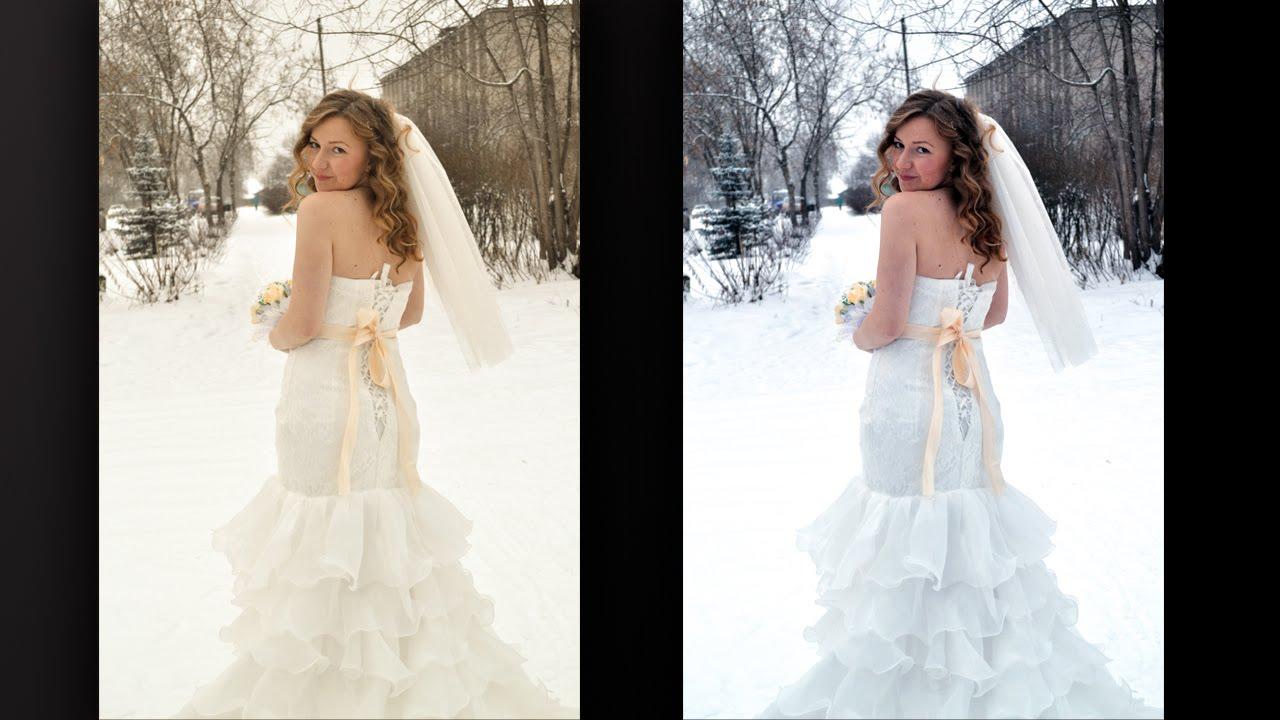 Белое платья для фотошопа
