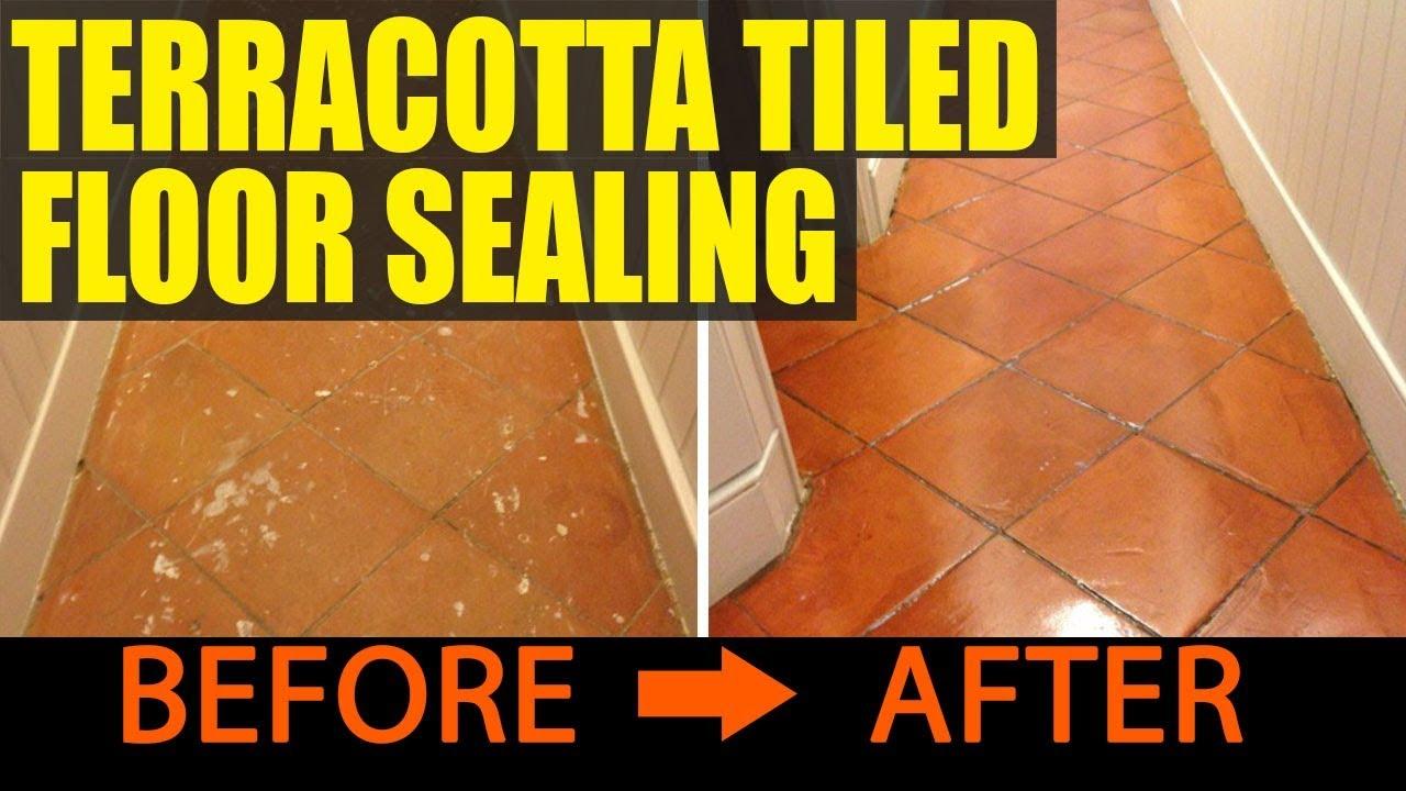 Terracotta tiled floor sealing youtube terracotta tiled floor sealing dailygadgetfo Images