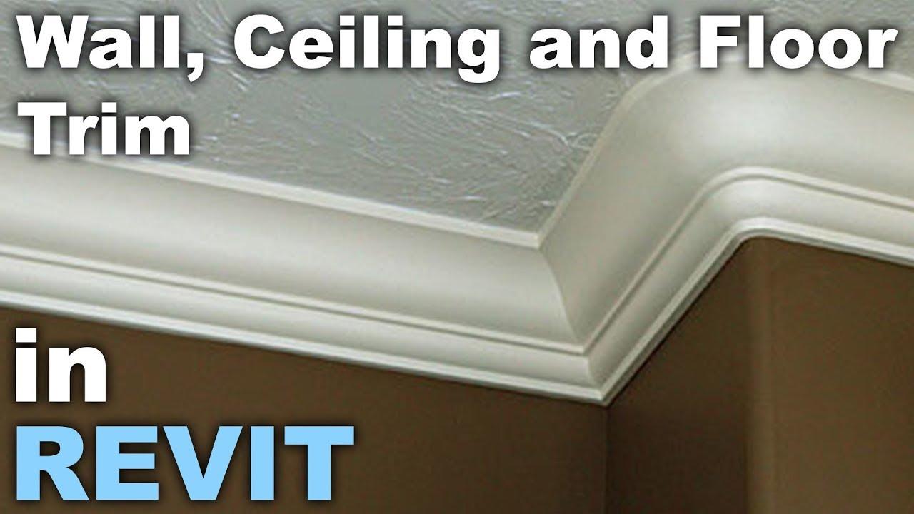 Floor, Wall, Ceiling Trim In Revit Tutorial
