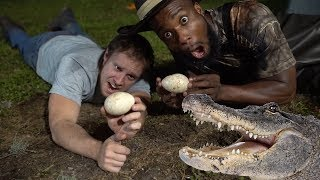 CATCHING AND EATING ALLIGATOR EGGS!! COOKING WITH CHEF O NASTY! Outdoor Country Style!