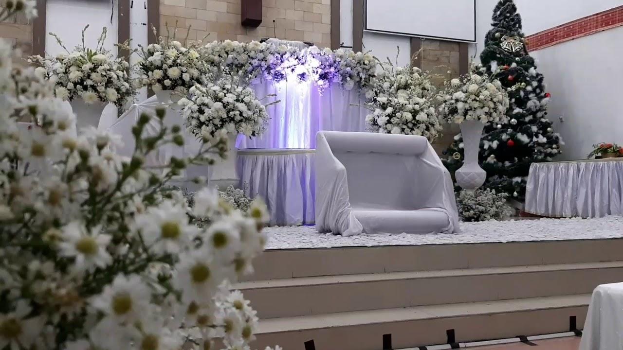 Dekorasi Pernikahan Di Gereja Gbkp Medan Youtube