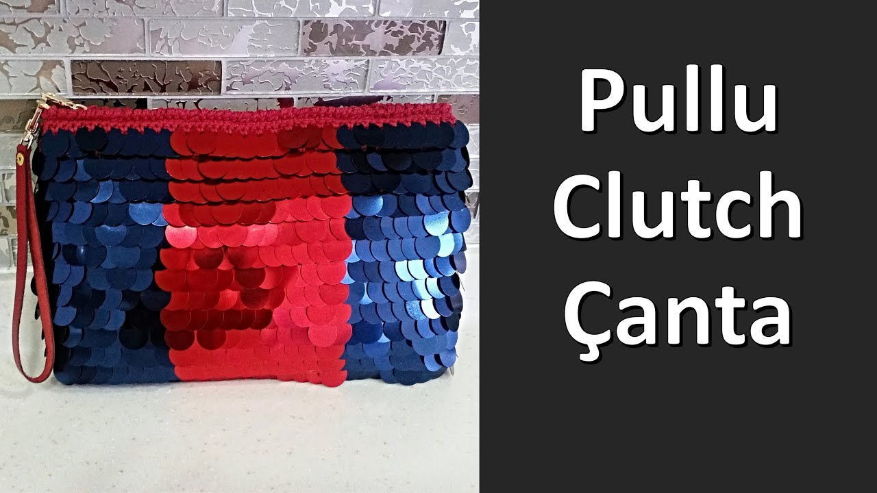 7ba216dd0e5a7 İki Renkli Pullu Örgü Clutch Çanta - YouTube