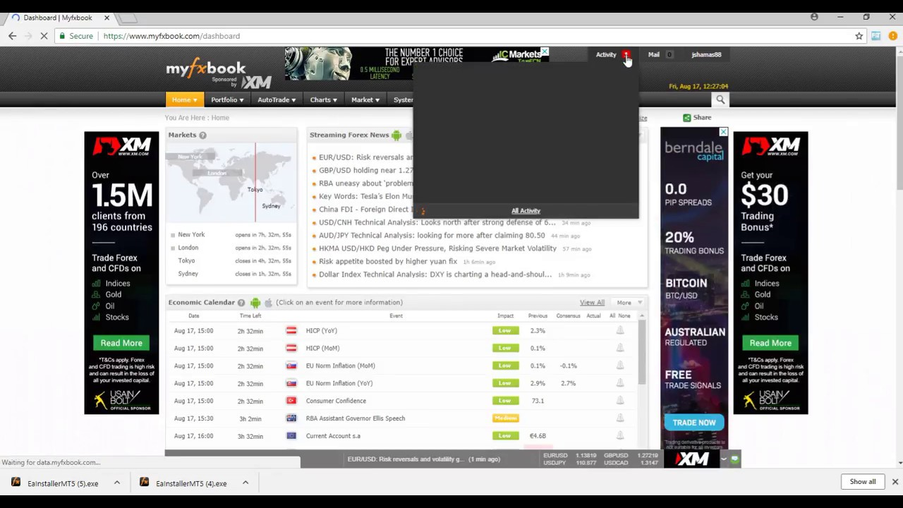 How To Track Performance On Mt5 Redstar Forex Myfxbook Setup