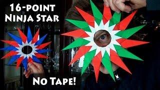 Origami 16-Point Ninja Star No Tape