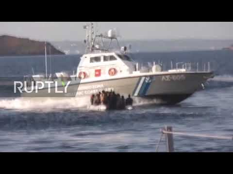 Turkey: Shocking footage shows Greek coast guard attacking and shooting at migrant boat