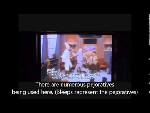 Vocab Video - Pejorative