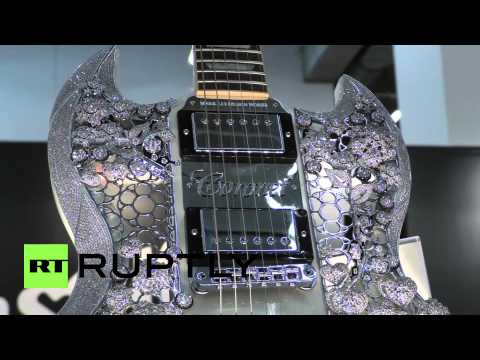 Download Youtube: Germany: This $2 mln gold-diamond guitar is the world's most expensive