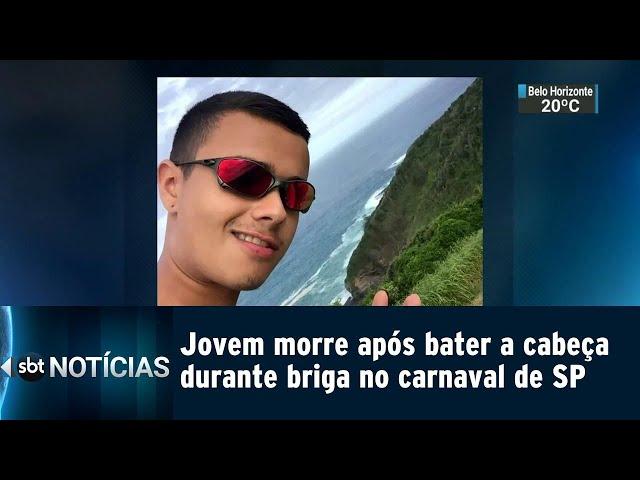 Jovem morre após bater a cabeça durante briga no carnaval de SP | SBT Notícias (07/03/2019)