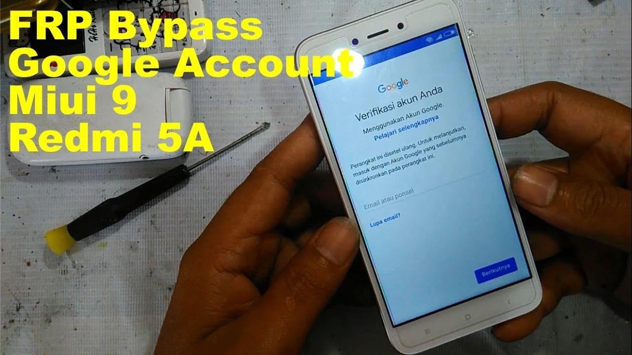 Frp Bypass Google Account Miui 9 Redmi 5a Tanpa Pc 100 Tested Youtube