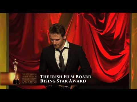Michael Fassbender, IFTA Winner 2009 - Aidan Quinn presents the IFTA for Rising Star
