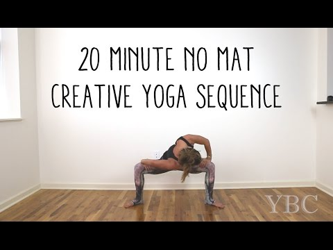 20 Minute No Mat Creative Yoga Sequence Youtube