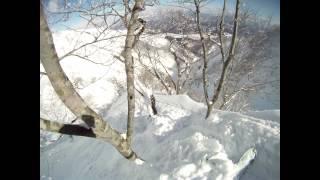 2013年2月9日 五竜天狗岳 最低コルからナイフリッジ滑走(雪崩地獄) thumbnail