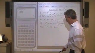 Ecuaciones de 2° grado con Casio 9860. Clase 8.