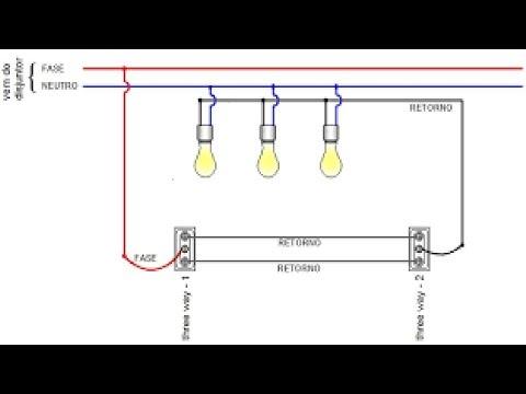 como-ligar-3-lâmpadas-com-2-interruptores-paralelos