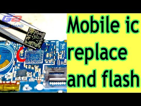 How to mobile ic replace and flash.