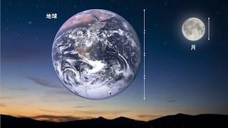 月から見た地球を、ソフトや模型を使って説明。中学入試や高校入試で頻...