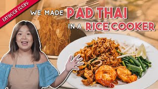 We Made Pad Thai With A Rice Cooker!   Eatbook Cooks   EP 37