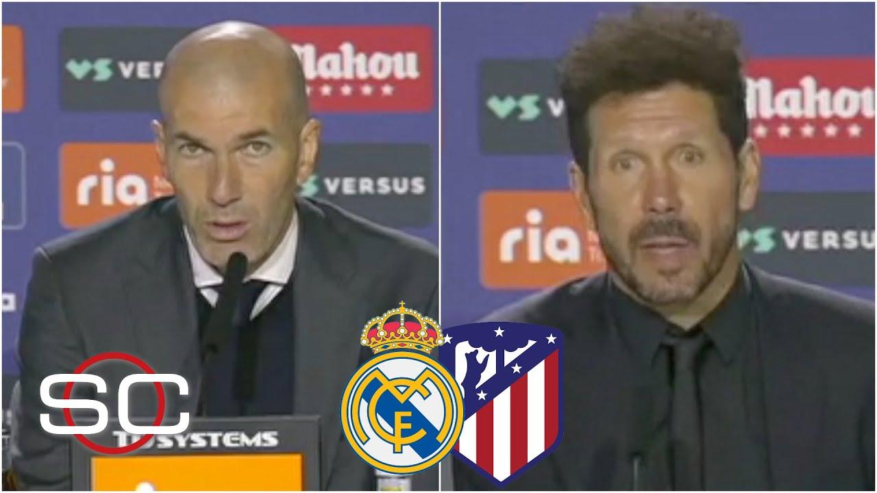 Zidane y Simeone MUY TRANQUILOS tras el empate entre Real Madrid y Atlético de Madrid | SportsCenter