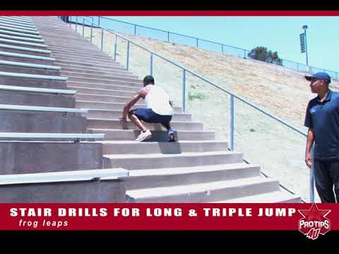 Willie Banks: Stair Drills For Triple Jump
