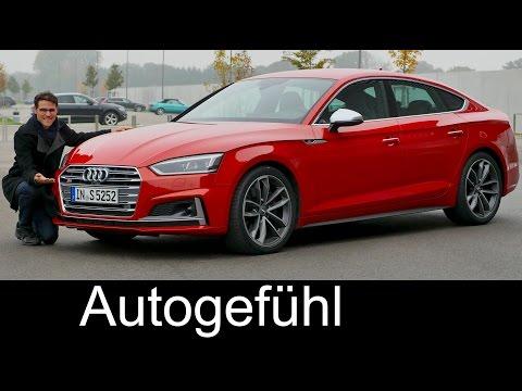 Audi A5 Sportback S-line vs S5 Sportback V6 FULL REVIEW test driven new neu 2017