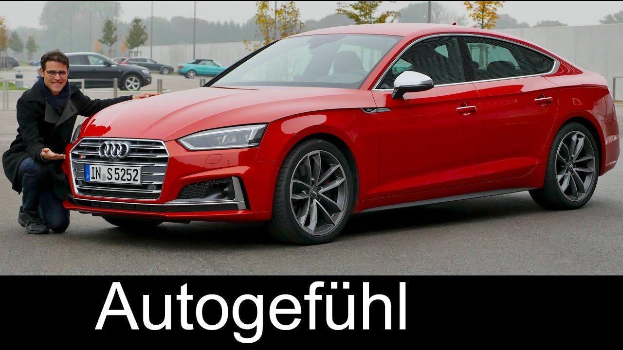 audi a5 sportback s line vs s5 sportback v6 full review test driven new neu 2017 youtube. Black Bedroom Furniture Sets. Home Design Ideas