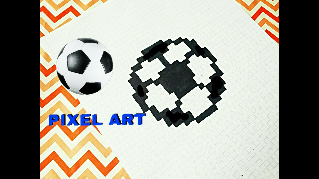 футбольный мячик по клеточкам Comment Dessiner En Pixel Un Ballon De Foot Pixel Art