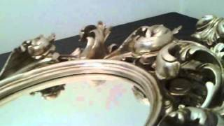 Rococo Oval Mirror - French Shabby Chic In Silver