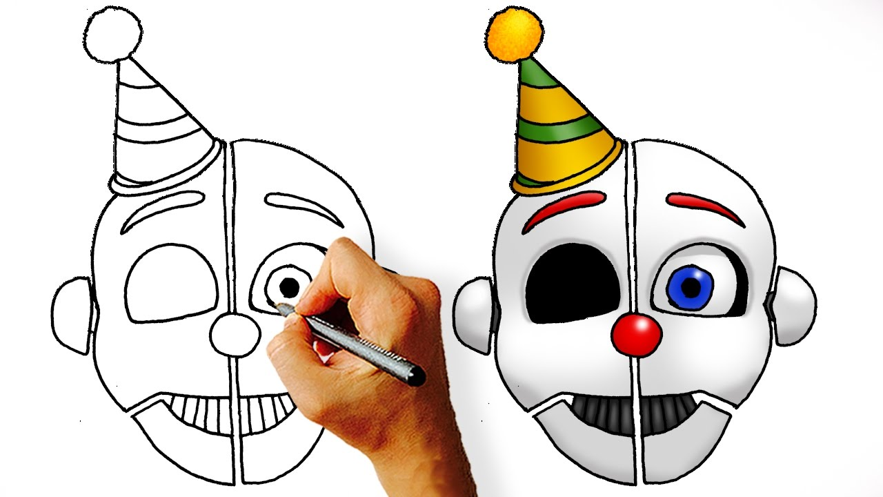 How to draw fnaf freddy steps - How To Draw Ennard Sister Location Five Nights At Freddy S Head Youtube