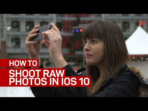 How to shoot raw photos in iOS 10