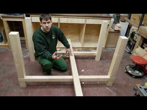 Stabile Werkbank für die Werkstatt selber bauen Teil 1