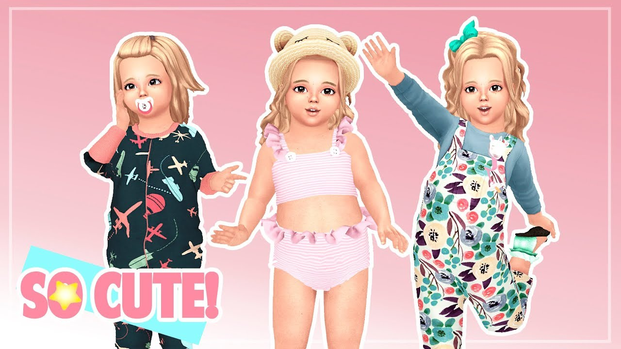 Pack para toddlers ropa accesorios poses los sims for Mobilia para sims 4