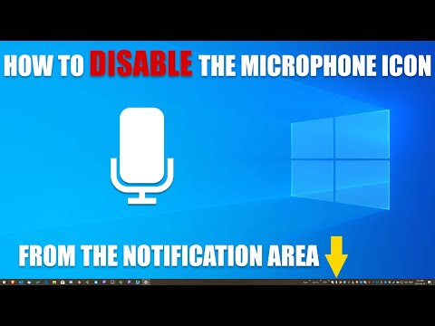 How To Disable The Microphone Icon In Windows Taskbar In Version 1903