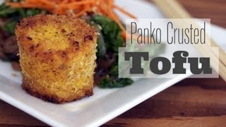 How To Press Tofu :: Panko Crusted Tofu Medallions Recipe- Vegan