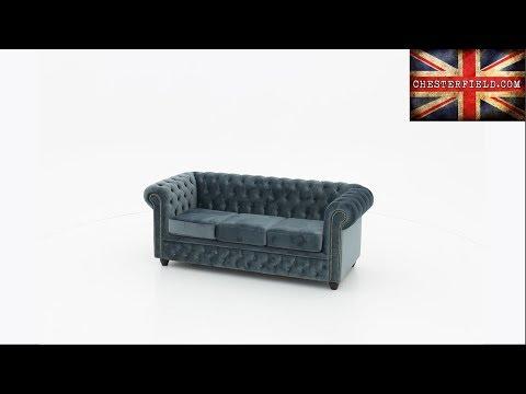 chesterfield-brighton-3-sitzer-sofa,-samt-blau/grau