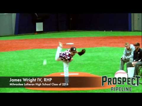 James Wright IV  Prospect Video, RHP, Milwaukee Lutheran High School Class of 2016