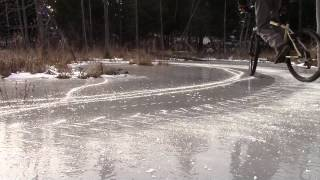 Extreme Drift-Bicycle on Ice