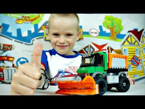 Игры для мальчиков. Лего - Сборка. СНЕГОУБОРОЧНАЯ МАШИНА из Конструктора