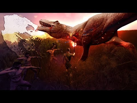 The Isle - Tribal Human Team Bow Hunt Rex, Carno & Baby Dinosaurs! Torches & More - MAJOR UPDATE!
